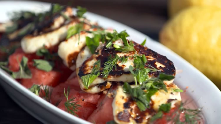 Barbecued Haloumi Cheese with