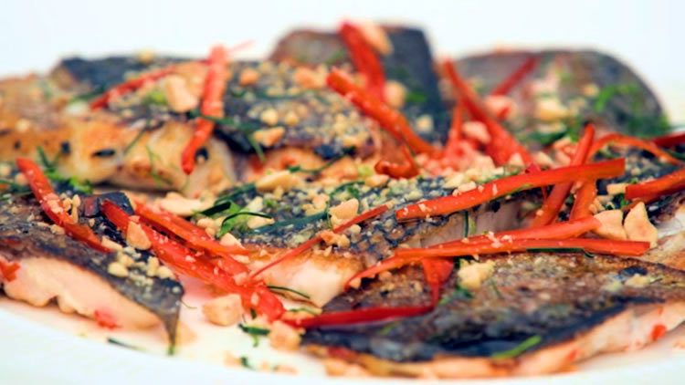 Lemongrass Fish with Asian Spices